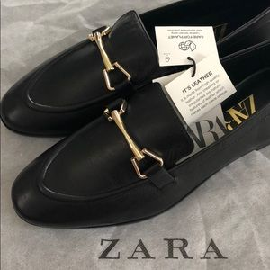 NWT Zara Genuine Leather Loafers
